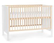 Kinderkraft Mia łóżeczko/tapczanik 120x60 z barierką kolor white + materac