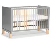Kinderkraft Nico łóżeczko/tapczanik 120x60 z barierką kolor grey