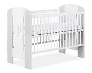 Klupś Nati łóżeczko 120x60cm kolor biały/popiel.