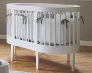 Pali łóżeczko LAB 136x72x96 cm ( kołyska LAB 03 + 2x Pościel 3 elementowa  + zestaw do przekształcenia w łóżeczko)