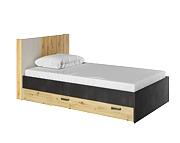 Lenart Qubic łóżko 200x120 cm z szufladąi i oświetleniem QB-11
