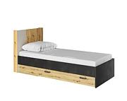 Lenart Qubic łóżko 200x90 cm z szufladą i oświetleniem QB-12
