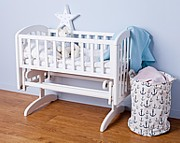 Troll Anna Glider Crib Kołyska z litego drewna / kolor biały / Kurier gratis przy przedpłacie