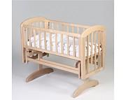 Troll Anna Glider Crib Kołyska z litego drewna / kolor naturalny / Kurier gratis przy przedpłacie