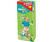 WYPRZEDA� Pampers  Active Boy 6 extra large(16+kg) 44 szt.