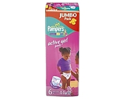 WYPRZEDAŻ Pampers Active Girl 6 large(16+kg) 44 szt.