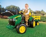 Peg Perego  GROUND FORCE traktor z przyczepą  napędzany akumulatorem 12V  na licencji JOHN DEERE