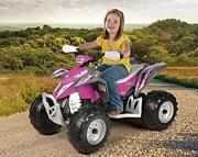 Peg Perego POLARIS OUTLAW PINK POWER quad dla dziewczynki akumulator 12V