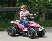 Peg Perego CORRAL BEARCAT PINK  quad motor off-road na akumulator 6V