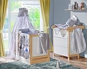 ATB Basic pokój dziecięcy ( łóżeczko z szufladą 120x60 + komoda z przewijakiem ) brzoza Kurier gratis przy przedpłacie