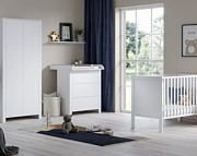 ATB Basic pokój dziecięcy ( łóżeczko z szufladą 120x60 + komoda z przewijakiem + szafa ) biały Kurier gratis przy przedpłacie