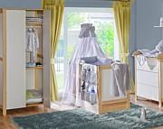 ATB Basic pokój dziecięcy ( łóżeczko z szufladą 120x60 + komoda z przewijakiem + szafa ) brzoza Kurier gratis przy przedpłacie