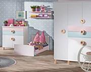 ATB Classic New pokój ( łóżeczko z szufladą 120x60 + komoda + przewijak + szafa ) niebieski Kurier gratis przy przedpłacie