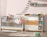 ATB Nordik pokój dziecięcy ( łóżeczko 120x60 + komoda z przewijakiem ) Kurier gratis przy przedpłacie