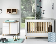 Baby Vox Altitude (łóżeczko 120x60 + komoda z przewijakiem) kolor biały / Kurier gratis przy przedpłacie.