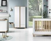 Baby Vox Altitude pokój dziecięcy (łóżeczko 120x60 + komoda z przewijakiem + szafa) kolor biały Kurier gratis przy przedpłacie.