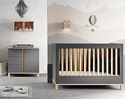 Baby Vox Altitude pokój dziecięcy (łóżeczko 120x60 + komoda z przewijakiem) kolor grafit / Kurier gratis przy przedpłacie.
