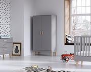 Baby Vox Lounge (łóżeczko 140x70 + komoda + przewijak + szafa 2 drz) lite drewno / kolor grafit /Kurier gratis przy przedpłacie