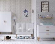 Baby Vox Lounge pokój dziecięcy (łóżeczko 120x60 + komoda + przewijak) kolor biały / Kurier gratis przy przedpłacie