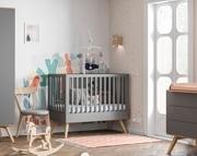 Baby Vox Mitra pokój dziecka (łóżeczko 140x70 + komoda z przewijakiem + szafa dwudrzwiowa) grafit Kurier gratis przy przedpł.