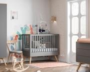 Baby Vox Mitra pokój dziecięcy (łóżeczko 120x60 + komoda z przewijakiem + szafa) kolor grafit / Kurier gratis przy przedpłacie.