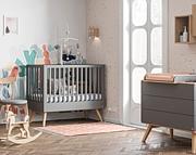 Baby Vox Mitra pokój dziecięcy (łóżeczko 120x60 + komoda z przewijakiem) kolor grafit / Kurier gratis przy przedpłacie.