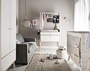 Spot by Vox Baby pokój dziecięcy (łóżeczko 140x70 + komoda z przewijakiem + szafa) biały/akacja Kurier gratis przy przedpłacie.