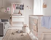 Spot by Vox Baby pokój dziecięcy (łóżeczko 140x70 + komoda + przewijak) biały/akacja / Kurier gratis przy przedpłacie.