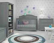 Bellamy Good Night pokój dziecka (łóżeczko z szufladą 140x70 + komoda + szara szafa Ines) szary /Kurier gratis przy przedpłacie
