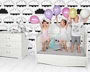 Bellamy Good Night pokój dziecięcy (łóżeczko z szufladą 140x70 + komoda Ines biała) kolor pure / Kurier gratis przy przedpłacie