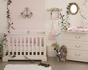 Bellamy Ines pokój dziecięcy (łóżeczko 120x60 + komoda z przewijakiem + szafa) / kolor biały / Kurier gratis przy przedpłacie