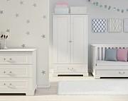 Bellamy Ines pokój dziecięcy (łóżeczko sofa 140x70 + komoda + 2 drzwiowa szafa) kolor biały / Kurier gratis przy przedpłacie