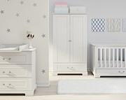 Bellamy Ines pokój dziecięcy (łóżeczko sofa 140x70 + komoda z przewijakiem + szafa) kolor biały /Kurier gratis przy przedpłacie