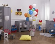 Bellamy Ines pokój dziecięcy (łóżeczko sofa 140x70 + komoda + szafa 2 drzwiowa) kolor szary Kurier gratis przy przedpłacie