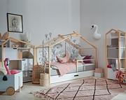 Bellamy Manhattan Grey pokój (TeePee łóżko 200x90 z szufladą + regał Joey + regał Phoebe) Kurier gratis przy przedpłacie