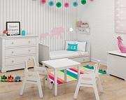 Bellamy Marylou pokój dziecięcy (łóżeczko tapczanik z szufladą 140x70 + komodą + szafa 2 drzwi) /Kurier gratis przy przedpłacie
