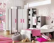 Lenart Bumerang pokój ucznia (łóżko 200x90 z materacem + komoda z 4 szufladami + biurko z nadstawką) / KURIER GRATIS