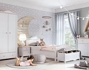Lenart Luna pokój uczennicy (łóżko 200x90 z materacem + szafa dwudrzwiowa + komoda z szufladą + biurko) / KURIER GRATIS