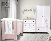 Nowość ! Drewex Żyrafka dąb santana łóżeczko 120x60 +komoda+szafa