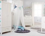 Klupś Marsell pokój niemowlęcy (łóżeczko 120x60cm z szufladą+komoda z przewijakiem+szafa).