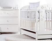 Klupś  Radek VII pokój dziecięcy (łóżeczko 120x60cm z szufladą + komoda z przewijakiem).