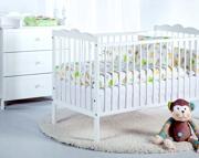 Klupś Oliver III pokój niemowlęcy (łóżeczko 120x60 cm + komoda z przewijakiem).
