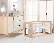 Promocja! LittleSky by Klupś Sofie pokój dziecięcy (łóżeczko 120x60 BUK +komoda+przewijak+szafa).