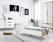 LittleSky by Klupś Sofie (łóżko 180x80 cm BIAŁE + komoda + szafa 2 drzwiowa).