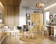Lenart Massi pokój młodzieżowy (łóżko 200x90 cm + biurko + szafa 3 drzwiowa) MS-01, 06, 09L (lewe) KURIER GRATIS
