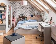 LENART Meble młodzieżowe Meet Me (łóżko 200x90+materac, szafa,komoda)