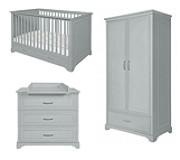 Novelies Melody pokój niemowlaka (łóżeczko sofa 140x70 + komoda z przewijakiem + 2 drzwiowa szafa) szary KURIER GRATIS