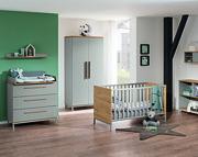 Paidi Benne Pokój dziecięcy lite drewno (łóżeczko 140x70 ze stelażem AIRWELL Comfort + szafa 2 drzwiowa + komoda) KURIER GRATIS