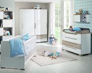 Paidi Carlo Pokój dziecięcy lite drewno (łóżeczko 140x70 ze stelażem AIRWELL Comfort + szafa 2 drzwiowa + komoda) KURIER GRATIS