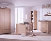 Paidi Eike Pokój dziecięcy lite drewno (łóżeczko 140x70 ze stelażem AIRWELL Comfort + komoda + szafa 2 drzwiowa) KURIER GRATIS